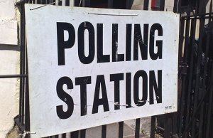Polling station sign. Pic: secretlondon123