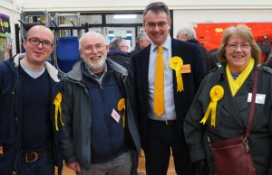 Keith LePla, Miles Trent, Paul Ray and Marguerite Stockdale at the by-election count