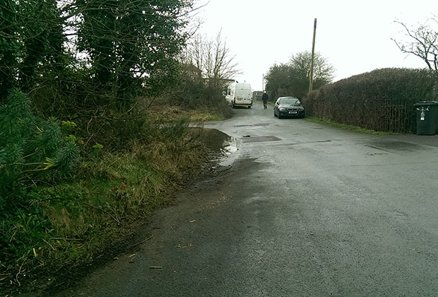 Part of Burton Old Road leading towards Lichfield Trent Valley station