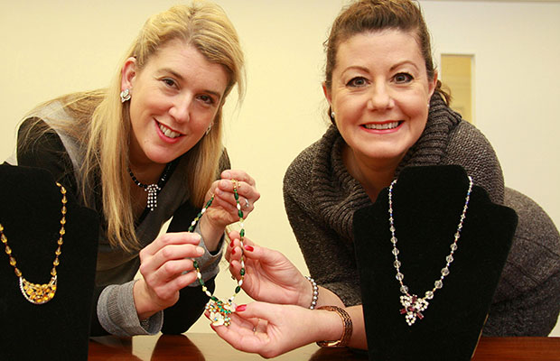Three Spires Shopping Centre manager Lisa Prokopiou with Deborah Rowe