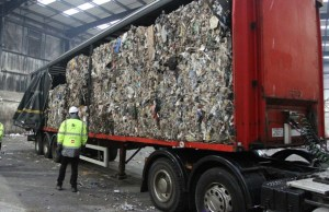 The trailer of waste which was dumped on the A38