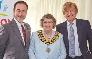 Cllr Norma Bacon with MPs Christopher Pincher and Michael Fabricant