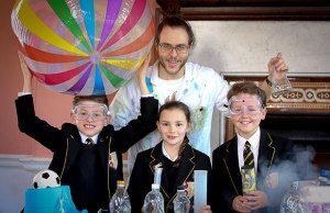 Lichfield Cathedral School students with Mad Marc from Sublime Science. Pic: Lichfield Cathedral School