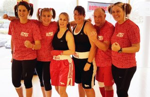 Some of those who took part in the Combatathon at Burntwood Leisure Centre for Sport Relief