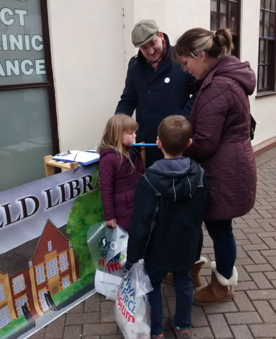 People signing the Lichfield Library petition. Pic: Lichfield and Burntwood Green Party