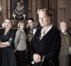 Louise Jameson (foreground) in The Mousetrap