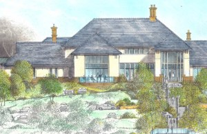 An artist's impression of the new clubhouse at Whittington Heath Golf Club