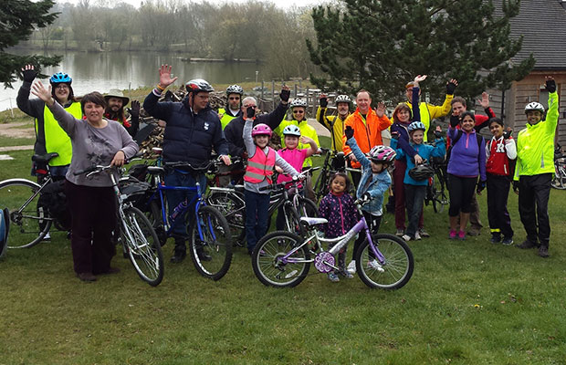 The 2014 ride to Fisherwick Lakes