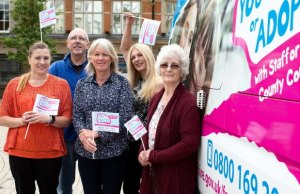 Foster carers get ready to welcome the fostering information bus