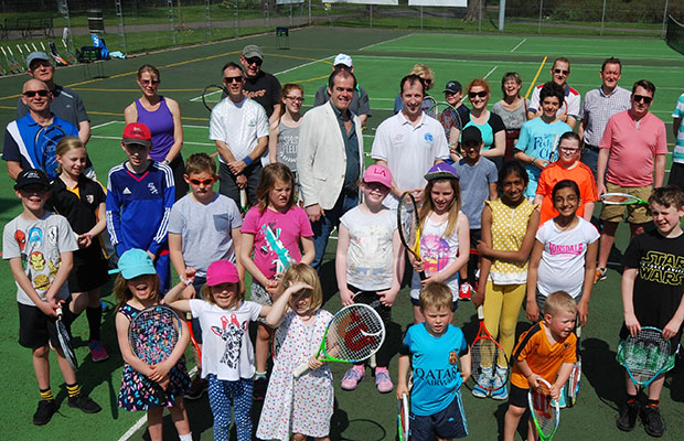 Simon Price and Paul Jessop with Tennis for Free members in Lichfield