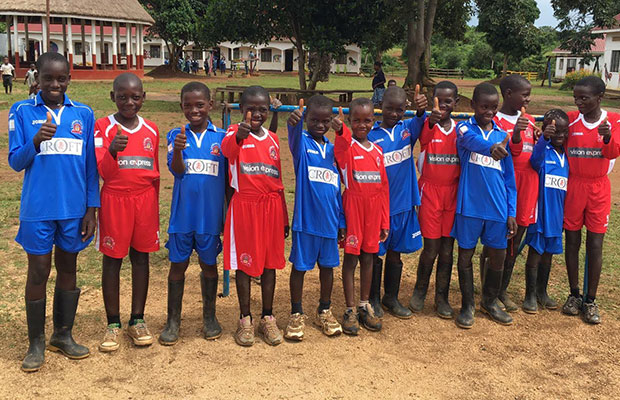 The Lichfield City kits taking pride of place in Uganda