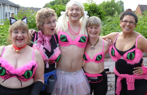Some of the Lichfield Players cast for their new play Cheshire Cats