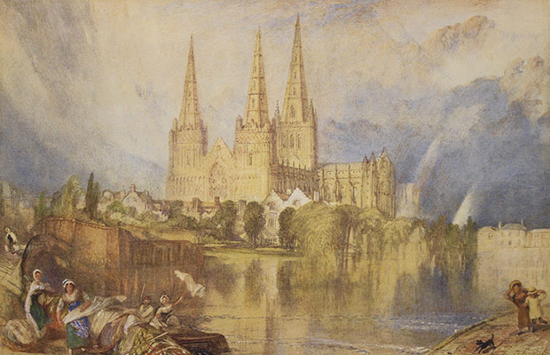 The Turner watercolour of Lichfield Cathedral