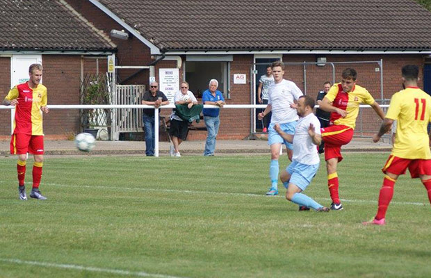 Nick Harris fires Lichfield City into the lead at Studley
