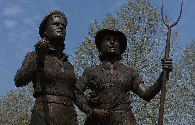 The Women's Land Army and Timber Corps Memorial. Pic: Loz Pycock