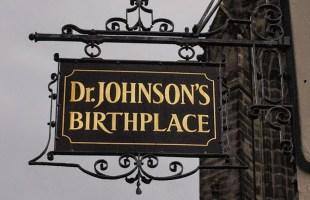 Samuel Johnson Birthplace sign
