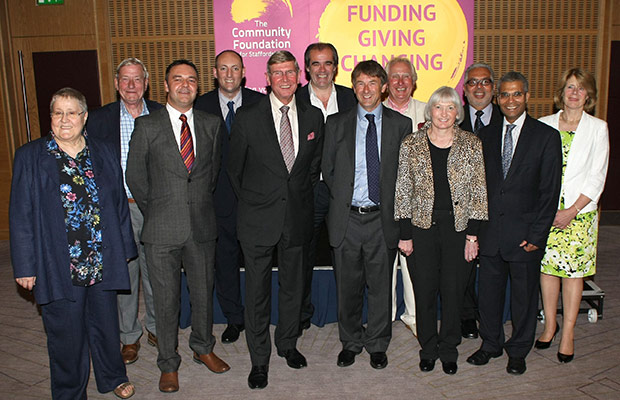The trustees of the Community Foundation for Staffordshire, including We Love Lichfield's Simon Price and Chris Spruce