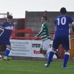 James Dance fires home his second goal. Pic: Pamela Mullins