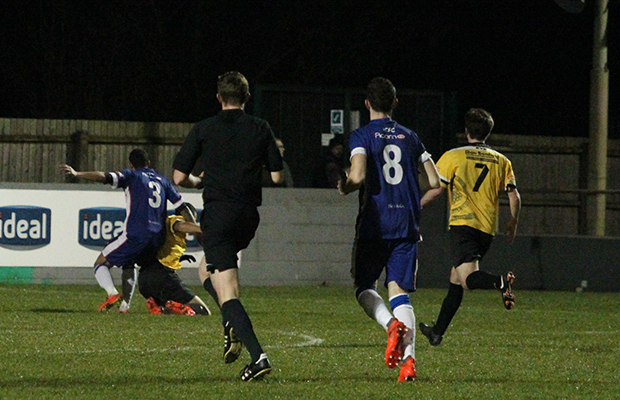1 penalty belper as stedman is fouled