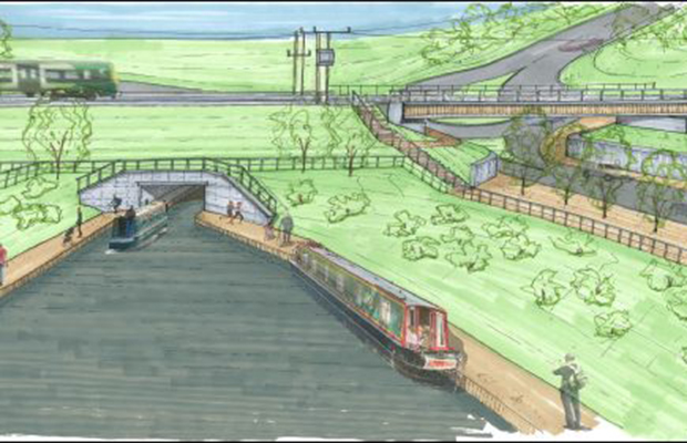 An artist's impression of the new canal tunnel