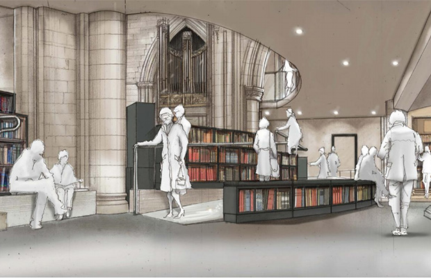 An artist's impression of the new interior of St Mary's in the Market Square