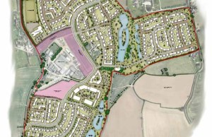 A map of the proposed development in Lichfield