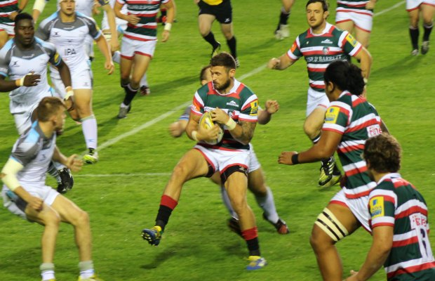 The Leicester Tigers in action