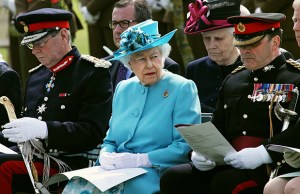 The Queen during a visit to the National Memorial Arboretum