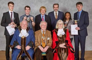 Jack Askew, James Wilson, Michael Fabricant MP, Simon Price, Pamela Nyambayo, and Nathan de Giorgi, with judges Robert Yardley, David Ratcliffe and Cllr Sheelagh James