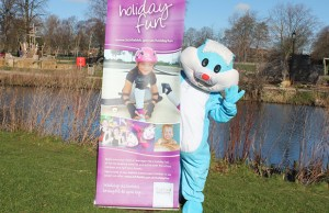 The Easter bunny in Beacon Park
