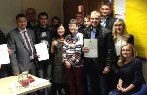 The English language class in Lichfield