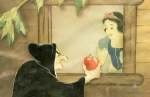 One of the cels from Snow White and the Seven Dwarfs