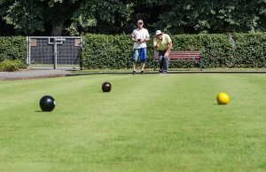The bowling green at Beacon Park