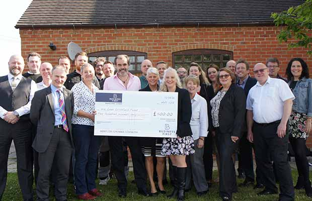 Simon Price, Patron of the We Love Lichfield Fund with some of the members of Business 1st