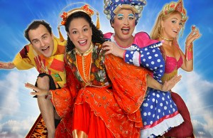 Stars of Aladdin, Ben Thornton, Cat Sandion, Sam Rabone and Loula Geater