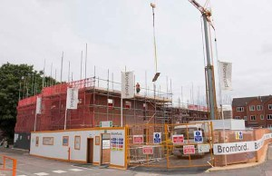 Construction work on the Lichfield One development