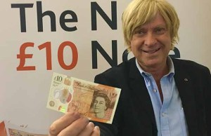 Michael Fabricant with the new £10 note