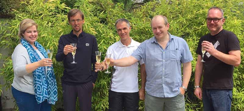 Beacon Park Tennis Trustees Katarina Obranovic, Paul Bayliss, Mark Eustace, Steve Clarke and Phil Shaw