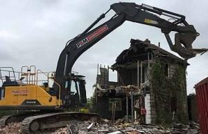 Demolition work in Packington