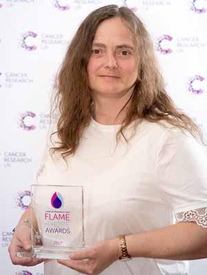 Sarah Dryhurst with her award