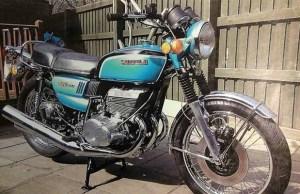 The vintage Suzuki motorbike
