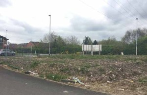 The land earmarked for housing in Burntwood