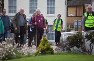 The Bishop of Lichfield taking part in the walk