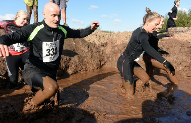 The St Giles Hospice mud run