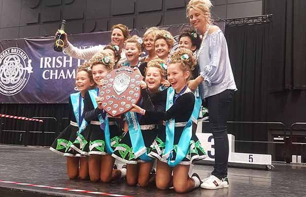 The winning Kidd School Irish Dancing ceili team