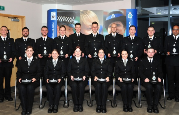 The new Staffordshire Police officers at the ceremony
