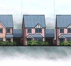 An artist's impression of the new houses
