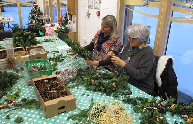 The Christmas wreath workshop in Lichfield