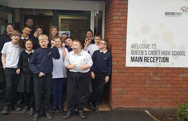 Children from Queen's Croft School