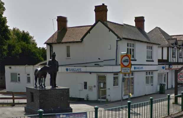 The Barclays branch in Burntwood. Pic: Google Streetview